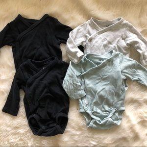 H&M set of 4 kimono style bodysuits